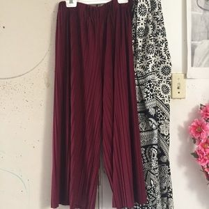 Pants - Red Wide Leg Pants